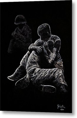 Metal Print featuring the painting My Friend Killed In Korean War by Bob Johnston
