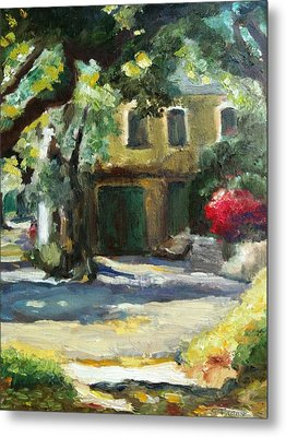A French Cottage Metal Print