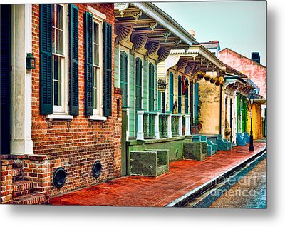 A French Quarter Street - Digital Painting Metal Print