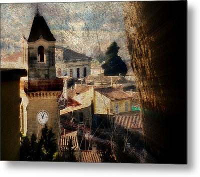 A French Village Metal Print by Tina Concetta Marzocca