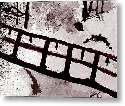 A Frozen River Metal Print by Shelley Bain