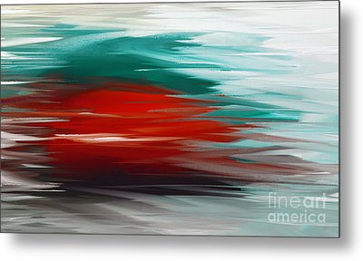 A Frozen Sunset Abstract Metal Print by Andee Design