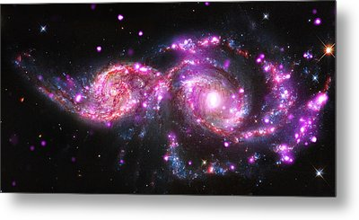 A Galactic Get-together Metal Print by Nasa