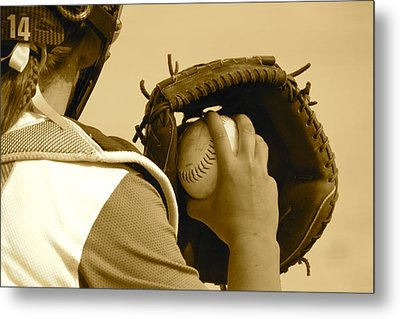 A Game Of Catch Metal Print