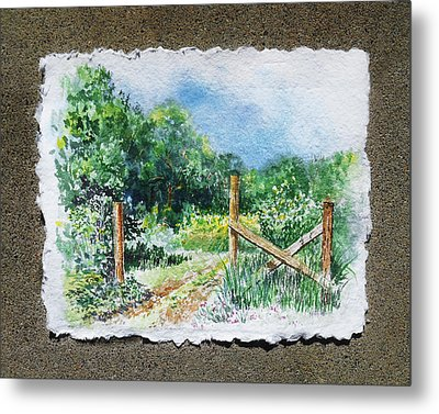 A Gate To The Ranch Briones Park California Metal Print