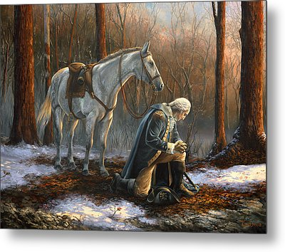 A General Before His King Metal Print