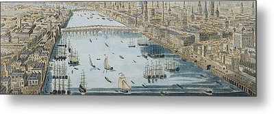 A General View Of The City Of London And The River Thames Metal Print by Thomas Bowles