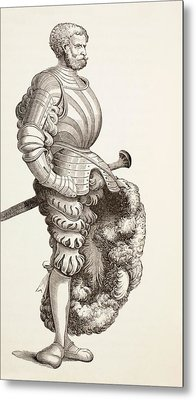 A German Knight, From Military And Religious Life In The Middle Ages By Paul Lacroix Metal Print by French School