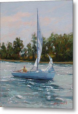 A Gift Of Memories Two On Rhodes 19 Metal Print by Laura Lee Zanghetti