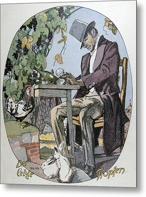 A Glass Of Wine. Food And Drink, Liszt Gourmet Archive Metal Print by Gotz, Ferdinand (1874-1936), German