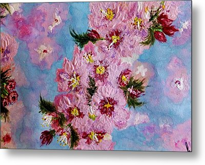 Metal Print featuring the painting A Glimpse Of Spring... by Cristina Mihailescu