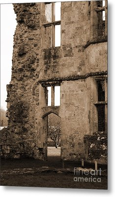 A Glimpse Of Titchfield Abbey Orchard Metal Print by Terri Waters