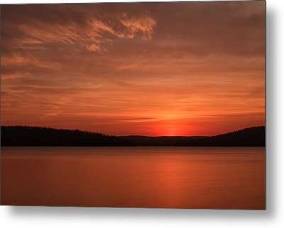 A Glorious Dawn Over The Quabbin As Seen From The End Of Old Enf Metal Print by Stephen Gingold