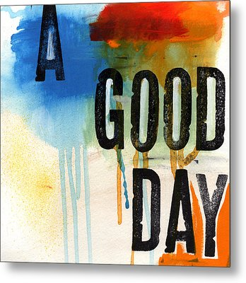 A Good Day- Abstract Painting  Metal Print