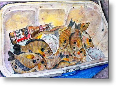 A Good Fish'n Day Metal Print by Janet Immordino