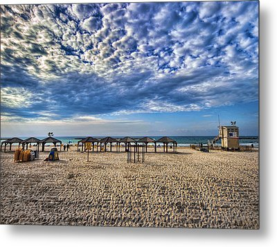 a good morning from Jerusalem beach  Metal Print