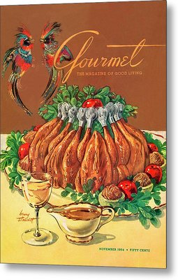 A Gourmet Cover Of Chicken Metal Print