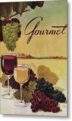A Gourmet Cover Of Wine Metal Print