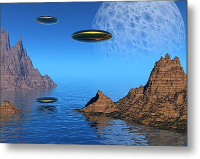 Metal Print featuring the digital art A Great Day For Flying by Lyle Hatch