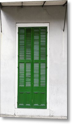 A Green Door In New Orleans Metal Print by Christine Till