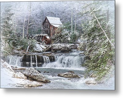 A Gristmill Christmas Metal Print by Mary Almond
