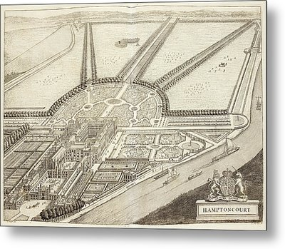 A Ground Plan Of Hampton Court Metal Print by British Library