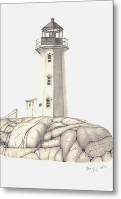 Metal Print featuring the drawing A Guiding Light by Patricia Hiltz