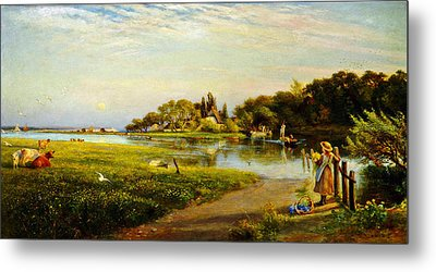 A Hampshire Ferry Metal Print by Celestial Images