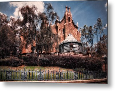 A Haunting House Metal Print