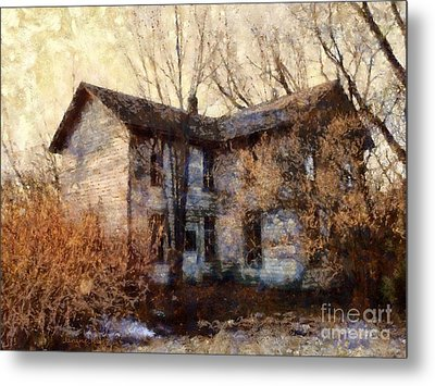 A Haunting Melody - Old Farmhouse Metal Print by Janine Riley