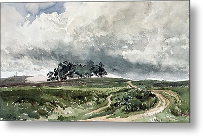 A Heath Scene Metal Print by Thomas Collier