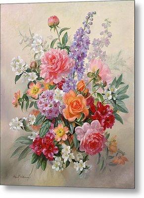 A High Summer Bouquet Metal Print by Albert Williams