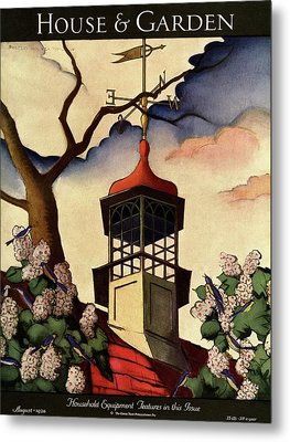 A House And Garden Cover Of A Weathervane Metal Print