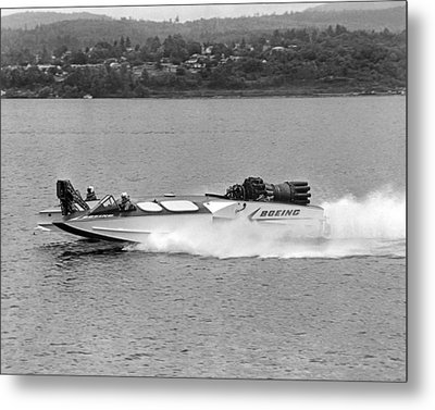 A Jet Powered Speed Boat Made By Boeing Metal Print by Underwood Archives