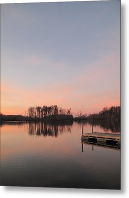 A Jetty Into Crab Orchard Lake Metal Print