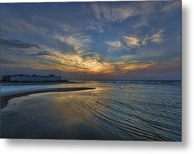 a joyful sunset at Tel Aviv port Metal Print by Ron Shoshani