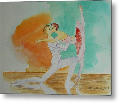 A Kiss In Ballet  Metal Print