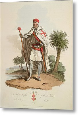 A Knight Templar Metal Print by British Library