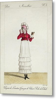 A Lady In A Levantine Hat Metal Print by Antoine Charles Horace Vernet