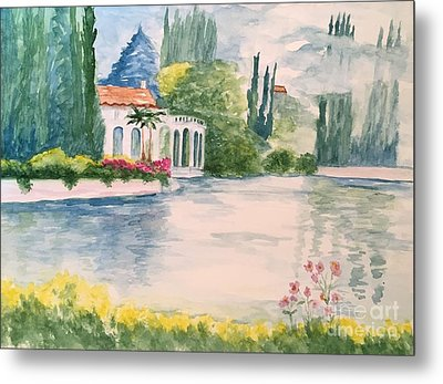 A Lake In Tuscany Metal Print by Lucia Grilletto
