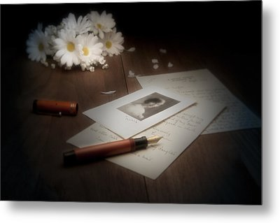 A Letter From Mary Still Life Metal Print by Tom Mc Nemar
