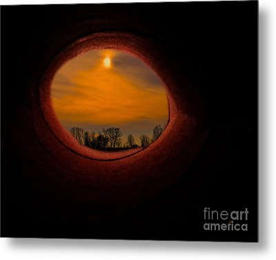 A Light At The End Of The Tunnel Metal Print by Gerlinde Keating - Galleria GK Keating Associates Inc