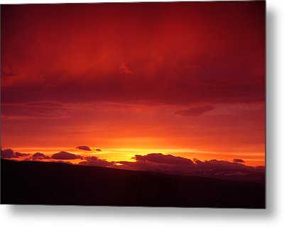 A Light In The Clouds  Metal Print by Jeff Swan