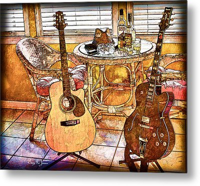 A Little Bit Country-a Little Bit Blues Metal Print by Barry Jones