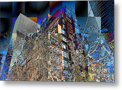 A Little Bit Of Spring In The City Metal Print by Miriam Danar