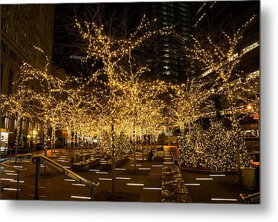 A Little Golden Garden In The Heart Of Manhattan New York City Metal Print