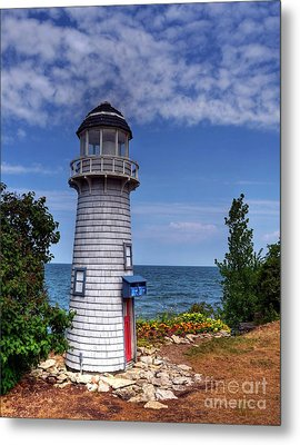 A Little Lighthouse Metal Print by Mel Steinhauer