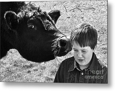 Metal Print featuring the photograph A Little Secret by Barbara Dudley