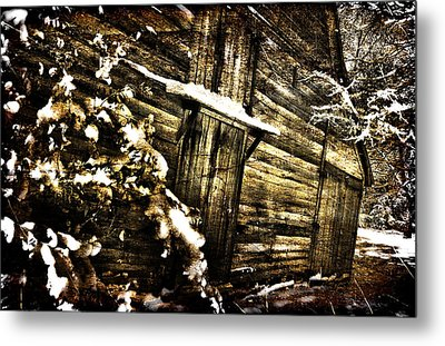 A Little Snow In Sc Metal Print