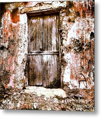 A Locked Door Metal Print by H Hoffman